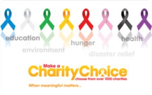 Earn free Charity Choice gift card