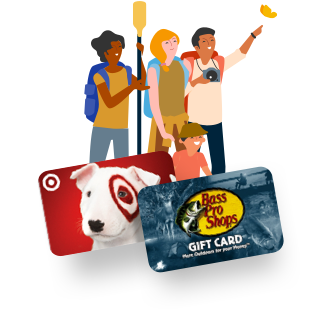 Free gift cards for outdoor adventures